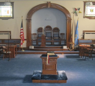 Lodge room of Mount Holyoke Lodge