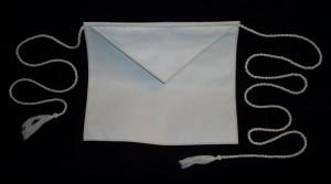 White Leather Apron