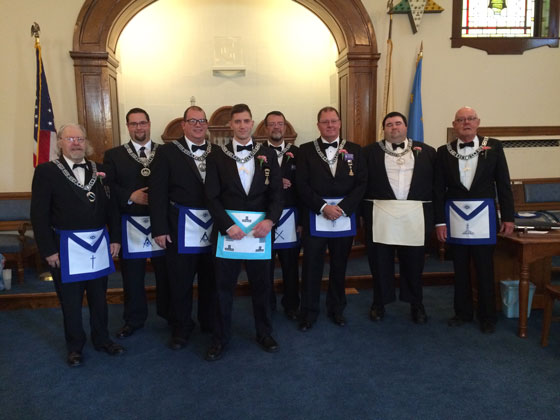 Officers of Mount Holyoke Lodge 2016